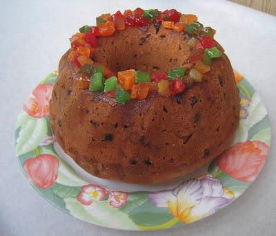 Рождественский кекс с цукатами
