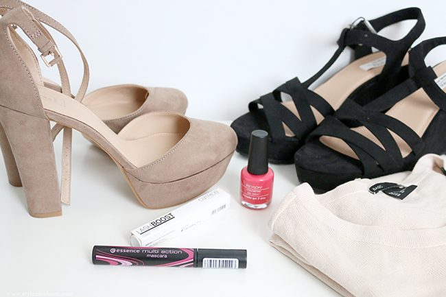 New in: Bershka shoes, H&M cardigan and some makeup products