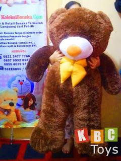 jual boneka teddy bear besar warna coklat ukuran 1 5 meter