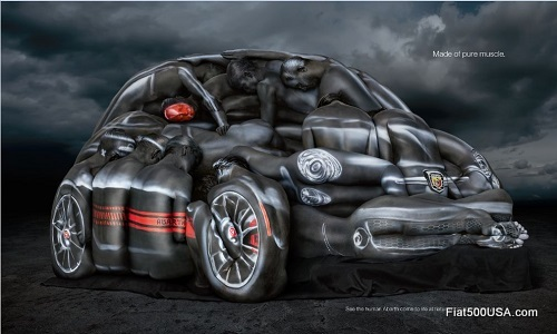Fiat 500 Abarth Cabrio Body Paint Ad