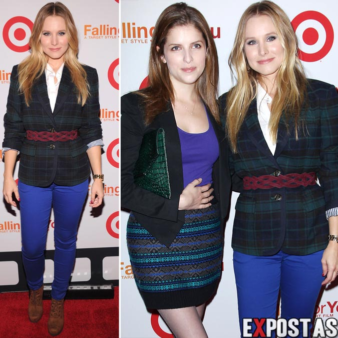 Anna Kendrick e Kristen Bell: Target Falling For You Fall Style Event em New York - 10 de Outubro de 2012