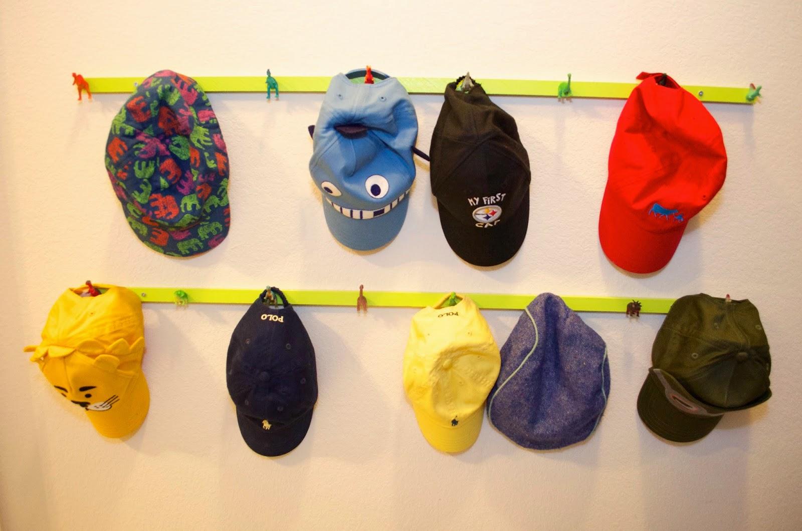 Crazy cozads diy dinosaur hat rack for Diy hat organizer