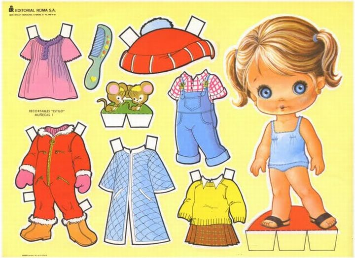 Muñecas de papel para vestir y recortar gratis - Imagui