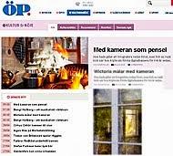 Jag och mina foton är på kultursidorna mittuppslag ÖP April 2013