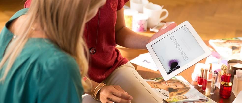 Aplicação Início Perfeito Oriflame para iPad