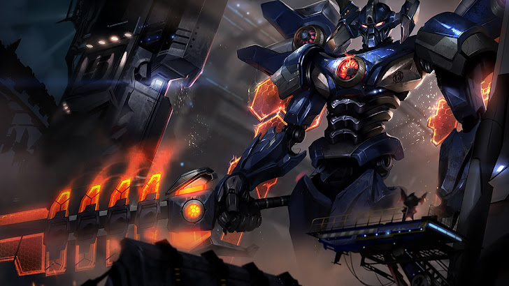 Aatrox Mecha skin splash
