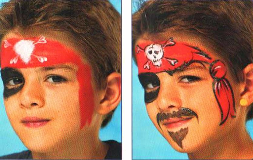 Чем нарисовать усы ребенку пирату