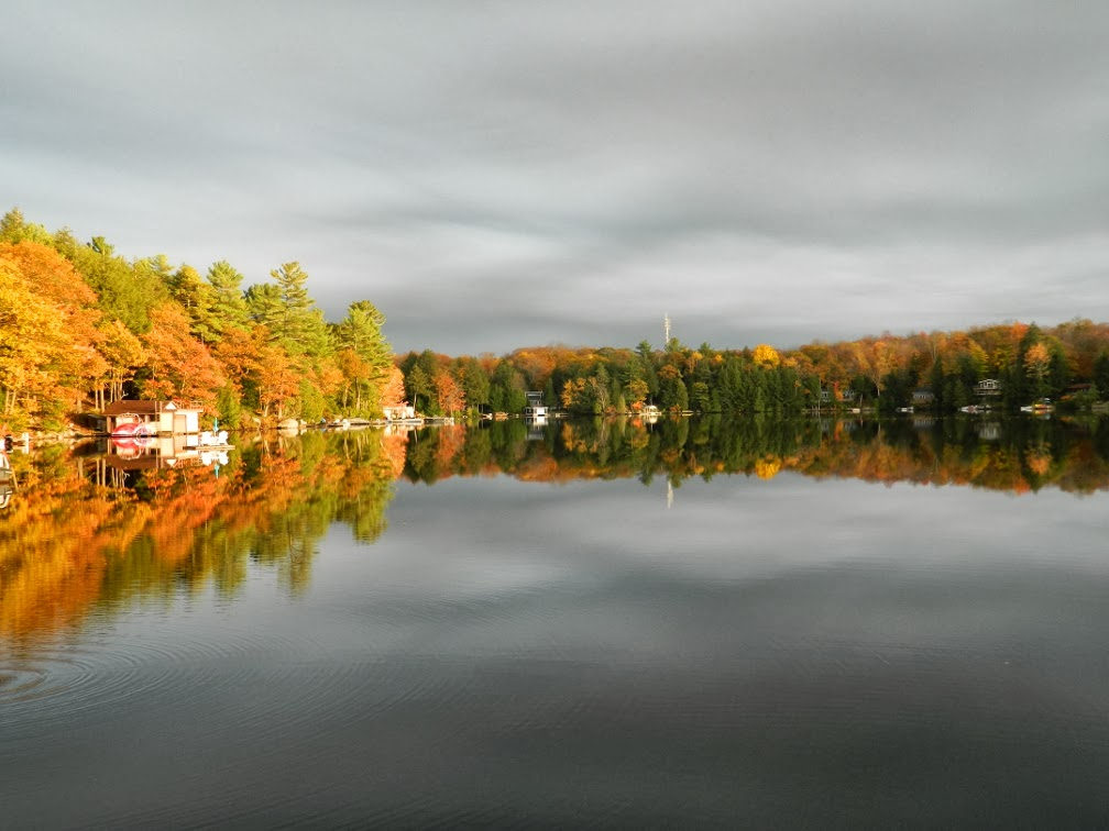 Lake Muskoka fall colours sunset still waters by garden muses--a Toronto gardening blog