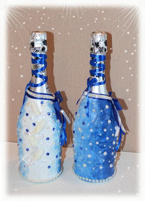 бутылки к свадьбе своими руками