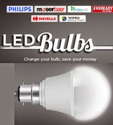 Extra 25% Off on LED Bulbs & Lighting (Philips, Moser Baer, Havells, Syska & many more)@ Snapdeal