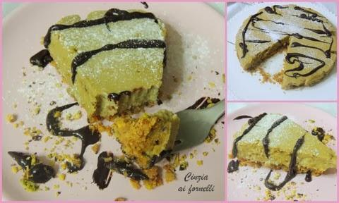 cheesecake con pistacchio