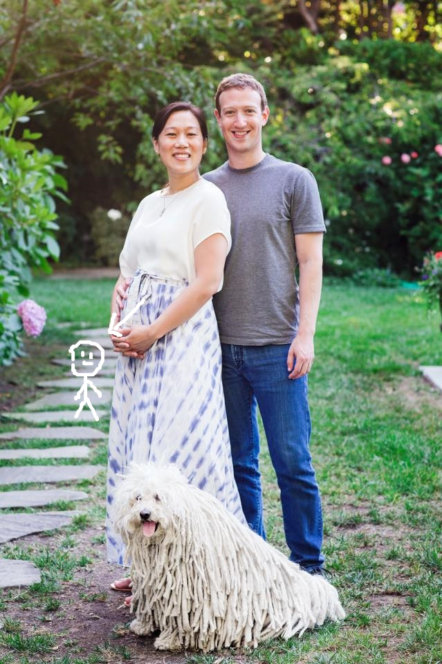 Mark Zuckerberg vai ser pai