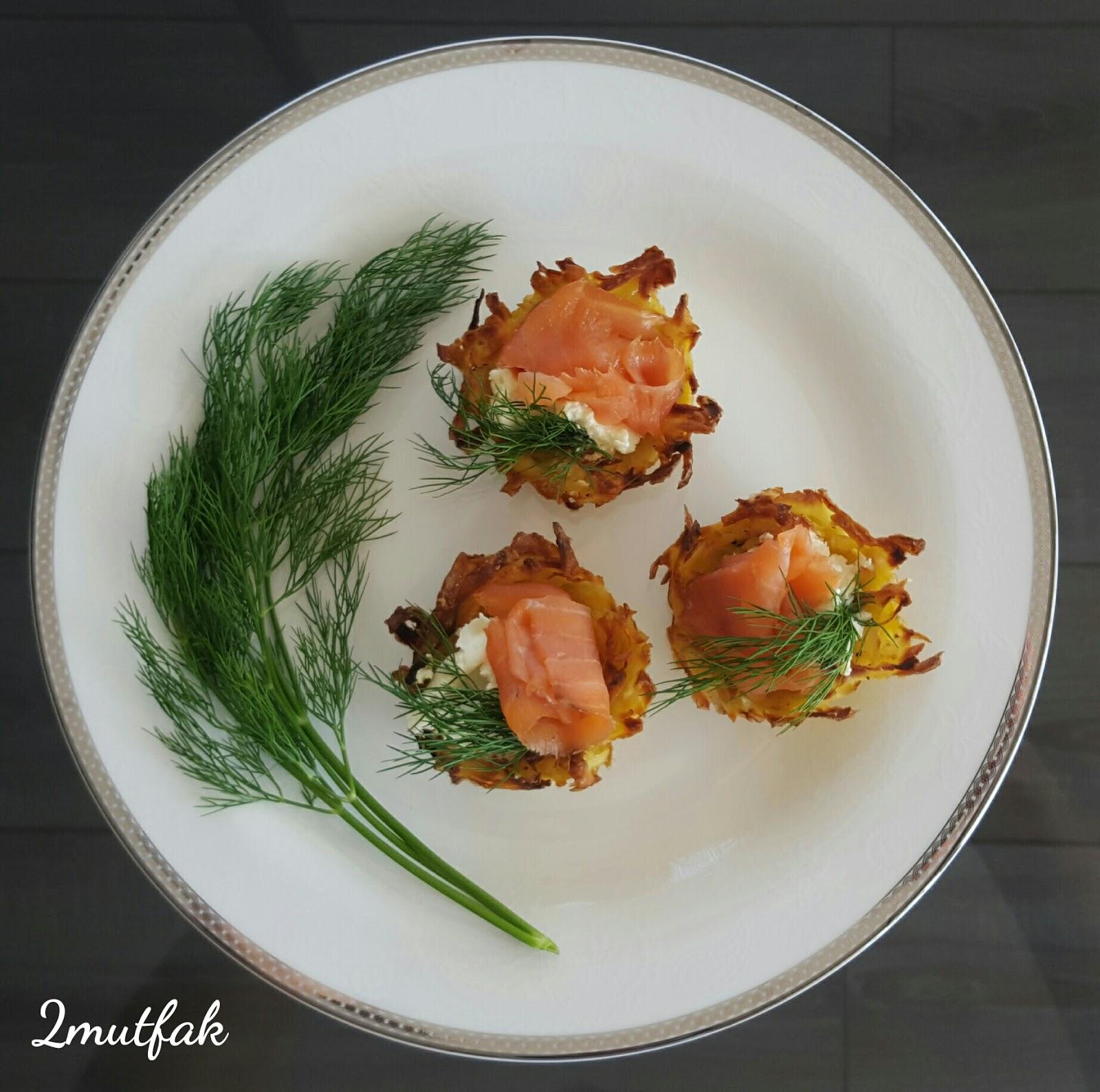 Patates yatağında Somon tarifi