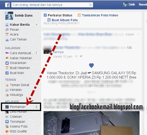 cara menonaktifkan pemberitahuan permintaan game di facebook