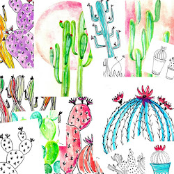 Project 2016/2017 → 100 cactus illustrations