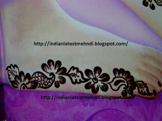 wow easy mehndi designs for feet