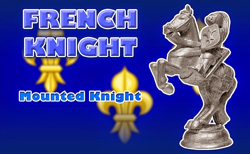 Battle of Agincourt Medieval French Knight Chess Piece
