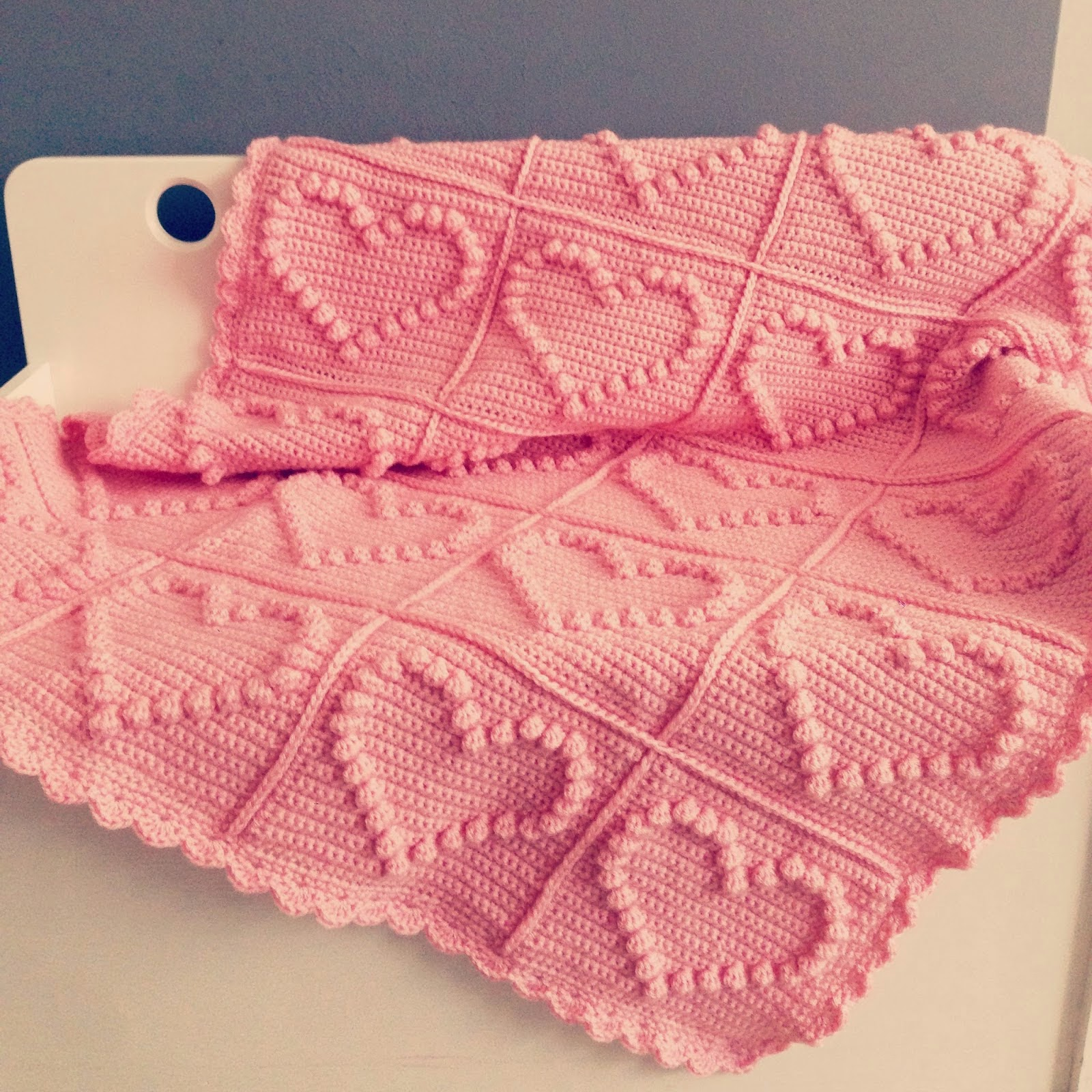 Crochet Granny Square Baby Afghan Patterns : Haaktips: Deken met hartjes