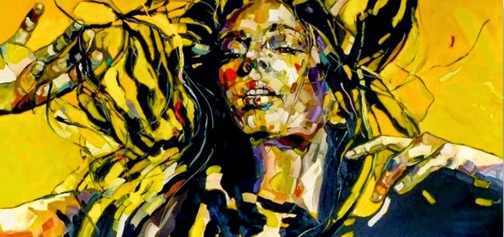mujeres-rostros-pintados-en-espatula