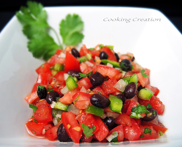 Cooking Creation: Black Bean Pico de Gallo