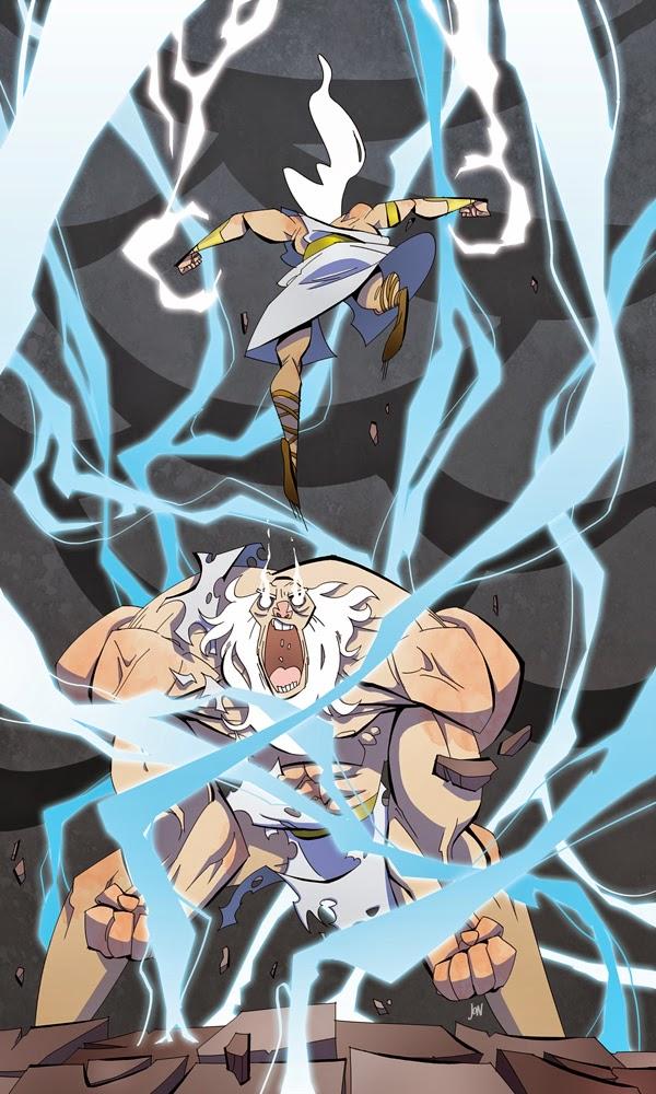jonathan jon lankry 2D artist animation comic book animated wrath of zeus god titan cronos lightning mythology
