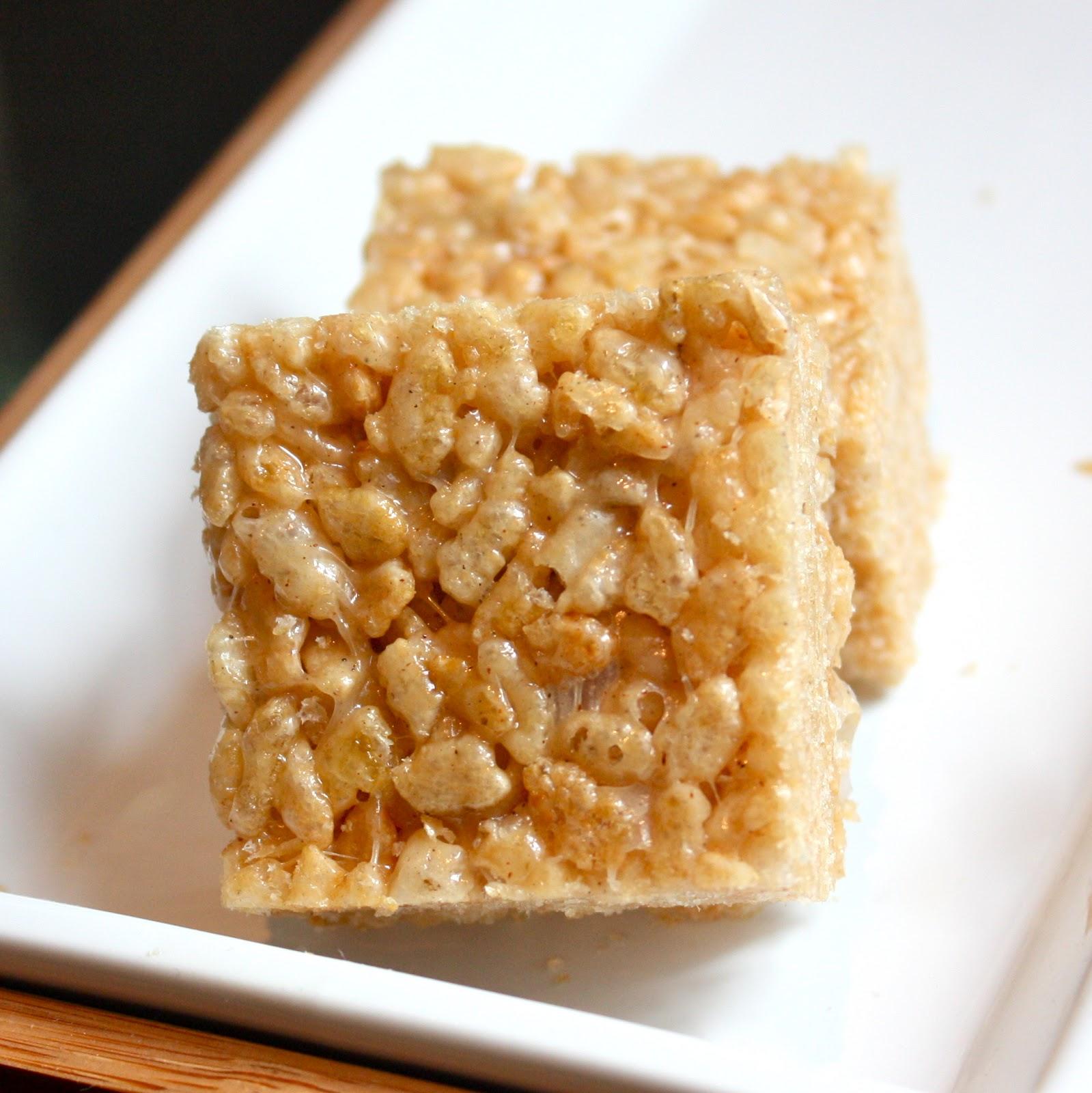 Cannella Vita: brown butter cinnamon rice krispie treats