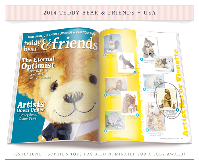 Teddy Bear & Friends 2014, TOBY Awards