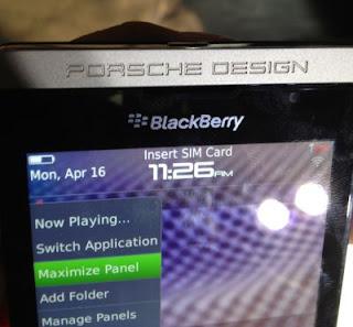 Spesifikasi dan Harga Blackberry Porsche Design