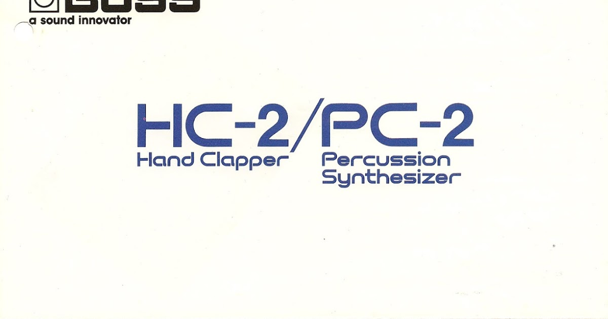 Retro Synth Ads Boss Hc 2 Hand Clapper Pc 2 Percussion