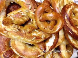 homemade pretzel making