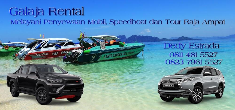 Rental Mobil Sorong, Speedboat Dan Tour Raja Ampat