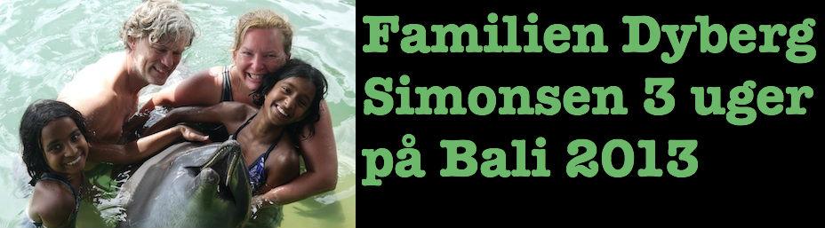 Familien Dyberg Simonsen på Bali 2013