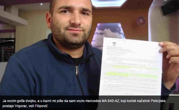 Nikola Filipović u šoku: Kaznili me jer sam vozio mercedes šefa vrgoračke policije?!