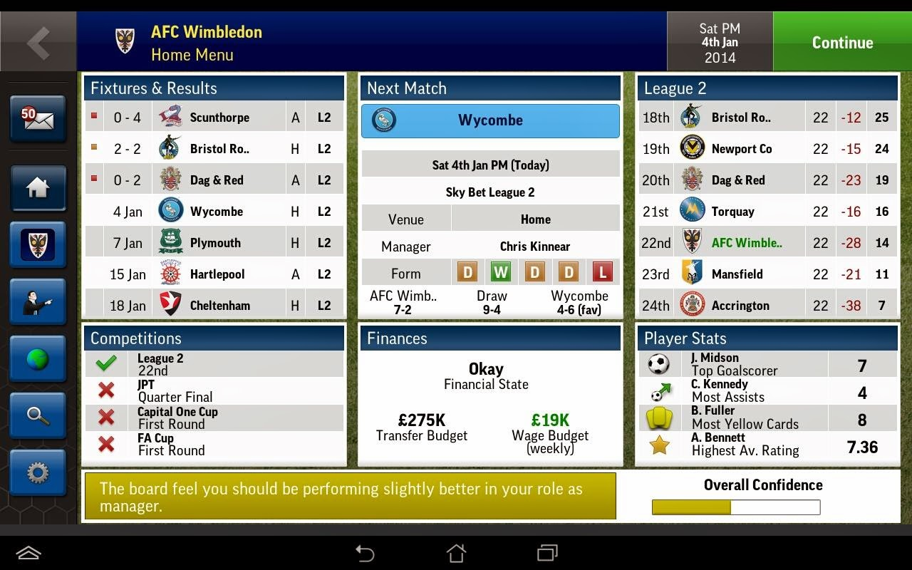 Football Manager Handheld 2015 V6.1 Apk