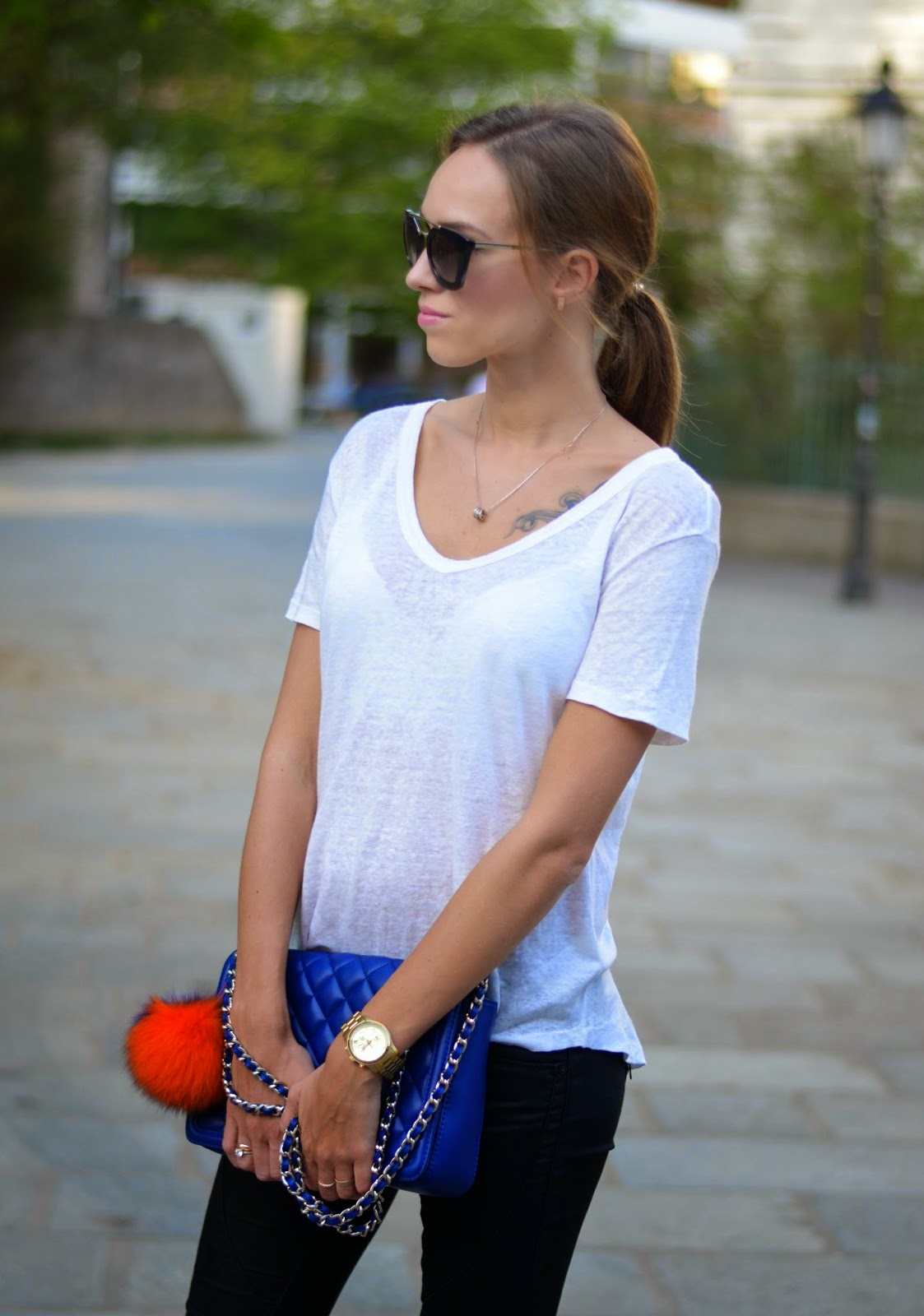 kristjaana mere summer black white outfit
