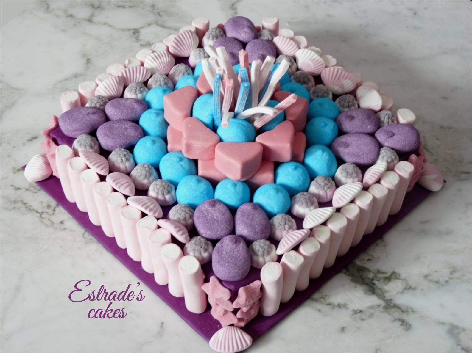 tarta de chuches Violetta - 1