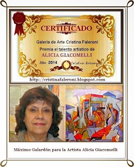 Alicia Giacomelli - Premio