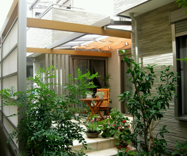 Modern House Design Garden 1440 x 1200