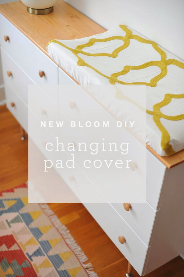 DIY Modern Boho Changing Pad Cover Tutorial