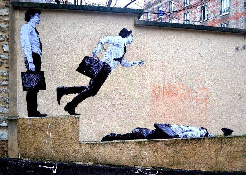 The Best Examples Of Street Art In 2012 And 2013 - By Levalet, Paris, France