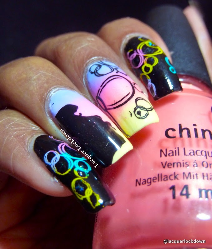 Bubble Nail Art: Lacquer Lockdown: Vivid Lacquer Blowing Bubbles Nail Art