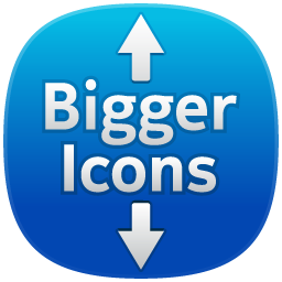 how to make dwesktop icons larger