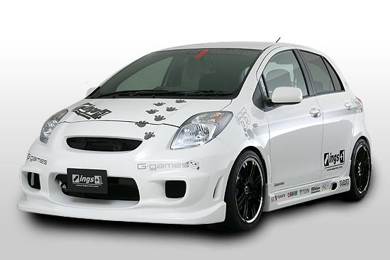 Foto gambar modifikasi mobil toyota yaris hitam putih keren gaul sekali