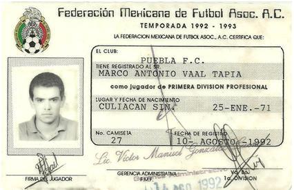 Club puebla fc por carlos moreno equipo puebla 1992 1993 for Cuando es fuera de lugar en un partido de futbol