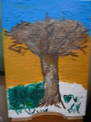 """A """"Árvore""""! A ser pintada pelo João e pelo Dinis."""