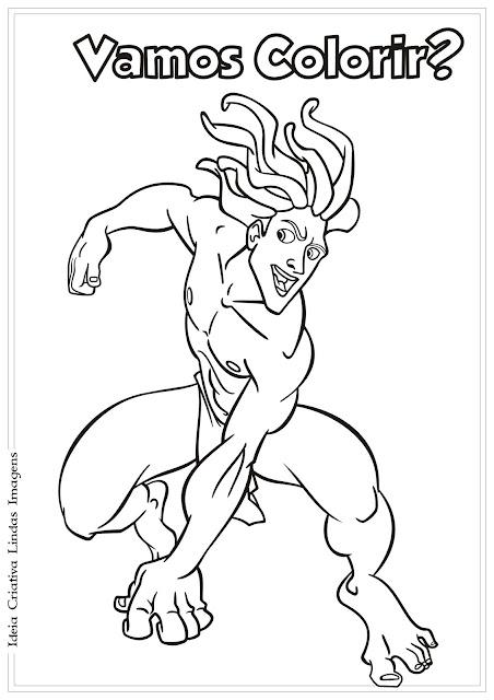 Tarzan desenho para colorir