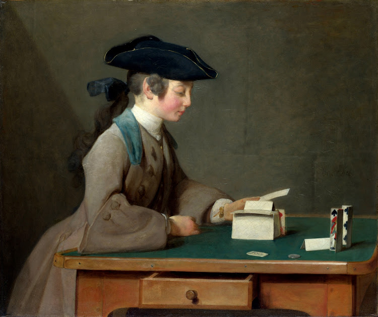 Jean Simeon Chardin - The House of Cards 1736