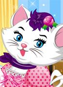 Белая кошечка - Онлайн игра для девочек