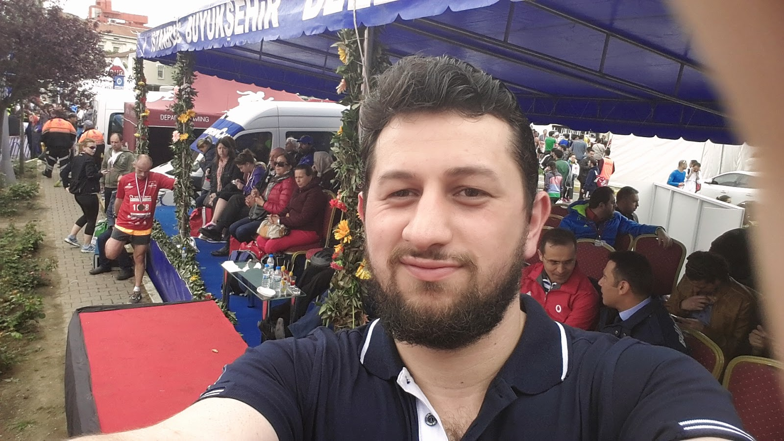 Vodafone Yarı İstanbul Maratonu 2014 Nisan selfie