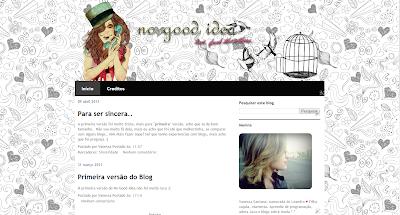 1ª versão do blog